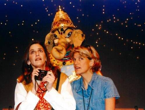 TIME TRAVELERS: Elly Lichenstein and Laura Jorgenson in the 2000 production of 'A Perfect Ganesh,' at Cinnabar Theater.