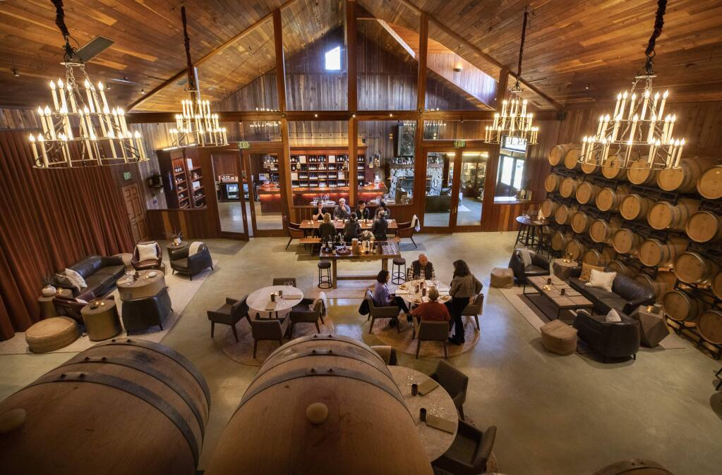 Lambert Bridge Winery in the Dry Creek Valley only hold tasting by appointment and sell their wine directly to their wine club members. (photo by John Burgess/The Press Democrat)
