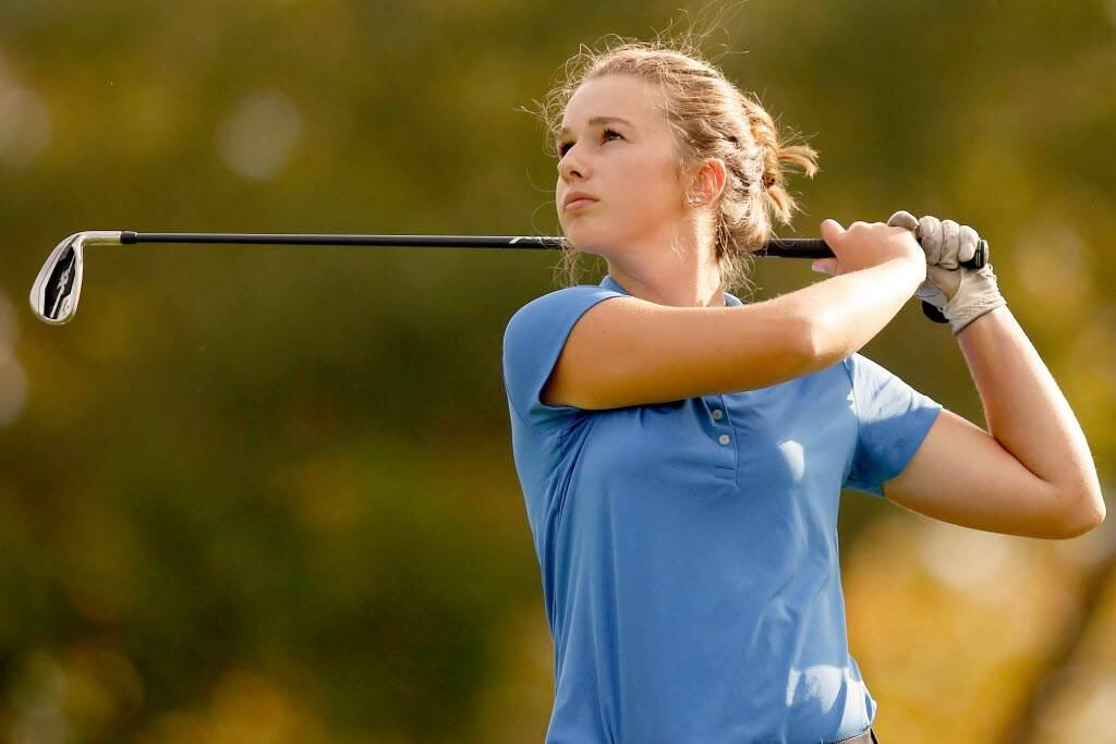 Abby Leighton, who will begin her junior year at Cardinal Newman in August, already has several tournament wins to her credit. (ALVIN JORNADA / THE PRESS DEMOCRAT)