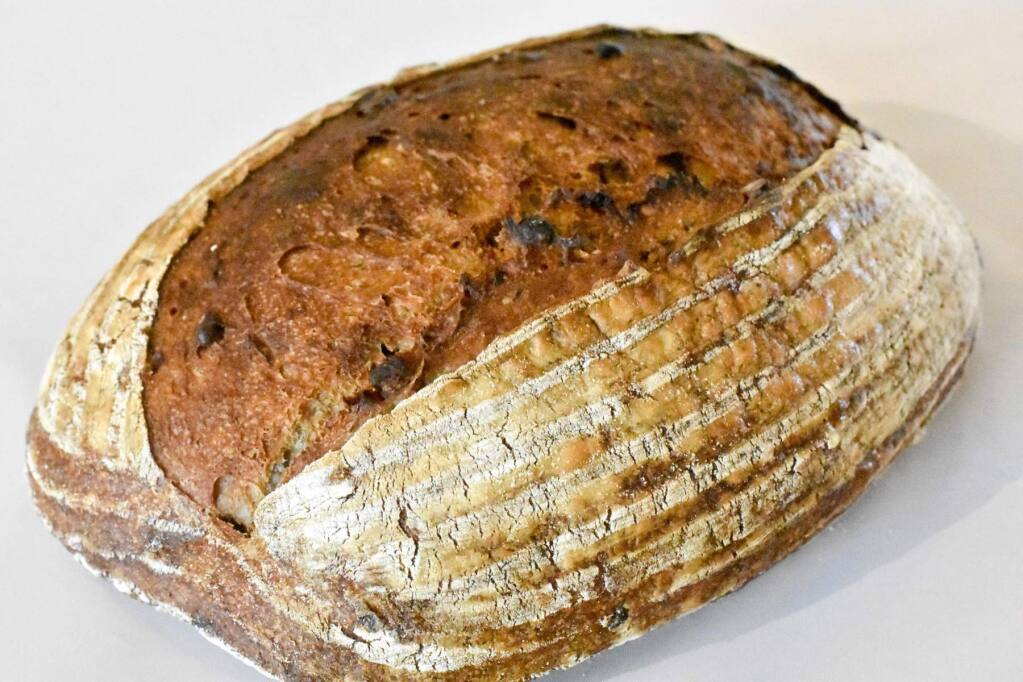 The Cranberry, Orange and Pecan Loaf from BurtoNZ Bakery won Best of Show Professional Specialty Bread at the Sonoma County Harvest Fair's Professional Food Competition. (Emily Janowski)