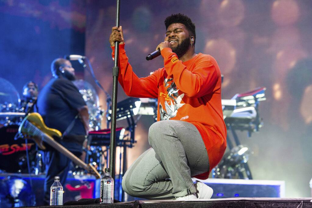 Khalid performs at the Coachella Music & Arts Festival at the Empire Polo Club on Sunday, April 21, 2019, in Indio, Calif. (Photo by Amy Harris/Invision/AP)