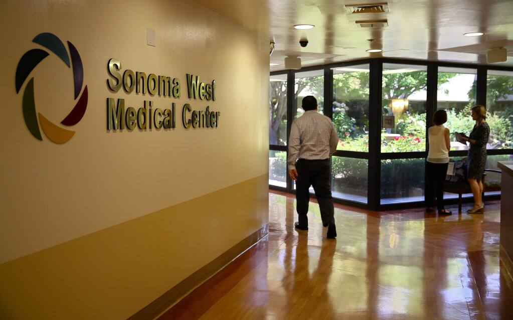 The Sonoma West Medical Center is opening at the former Palm Drive Hospital location. (Christopher Chung/ The Press Democrat)