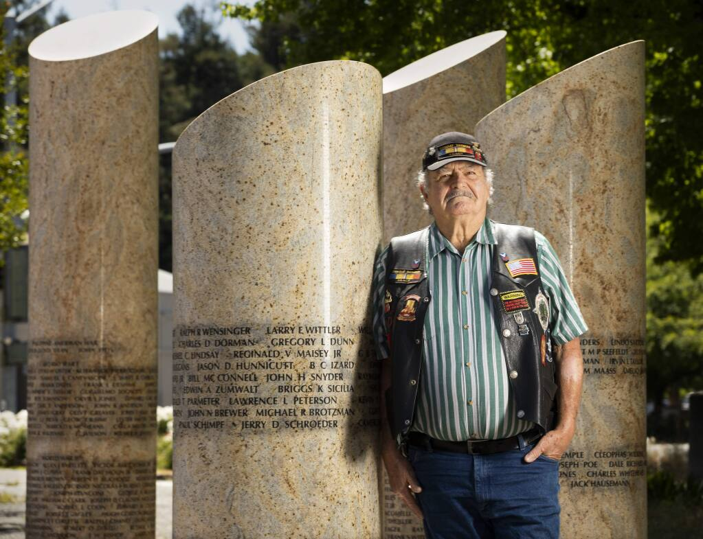 Vietnam war veteran Richard Jones, 75, is a co-founder of Sonoma County Vet-Connect, a nonprofit that has been assisting veterans for a dozen years. He is worried that the social isolation imposed by the coronavirus crisis is triggering depression and possible suicide among local veterans, especially those with PTSD. (Photo by John Burgess/The Press Democrat)
