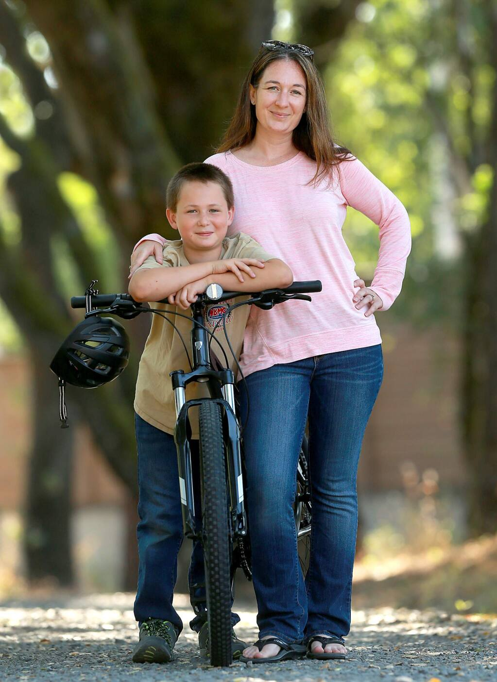 Will Seder, 9, saved his money and split the cost of a new bike with his mother, Tiffany. Two months later the bike stolen out of the garage of their west Santa Rosa home. (JOHN BURGESS/ PD)