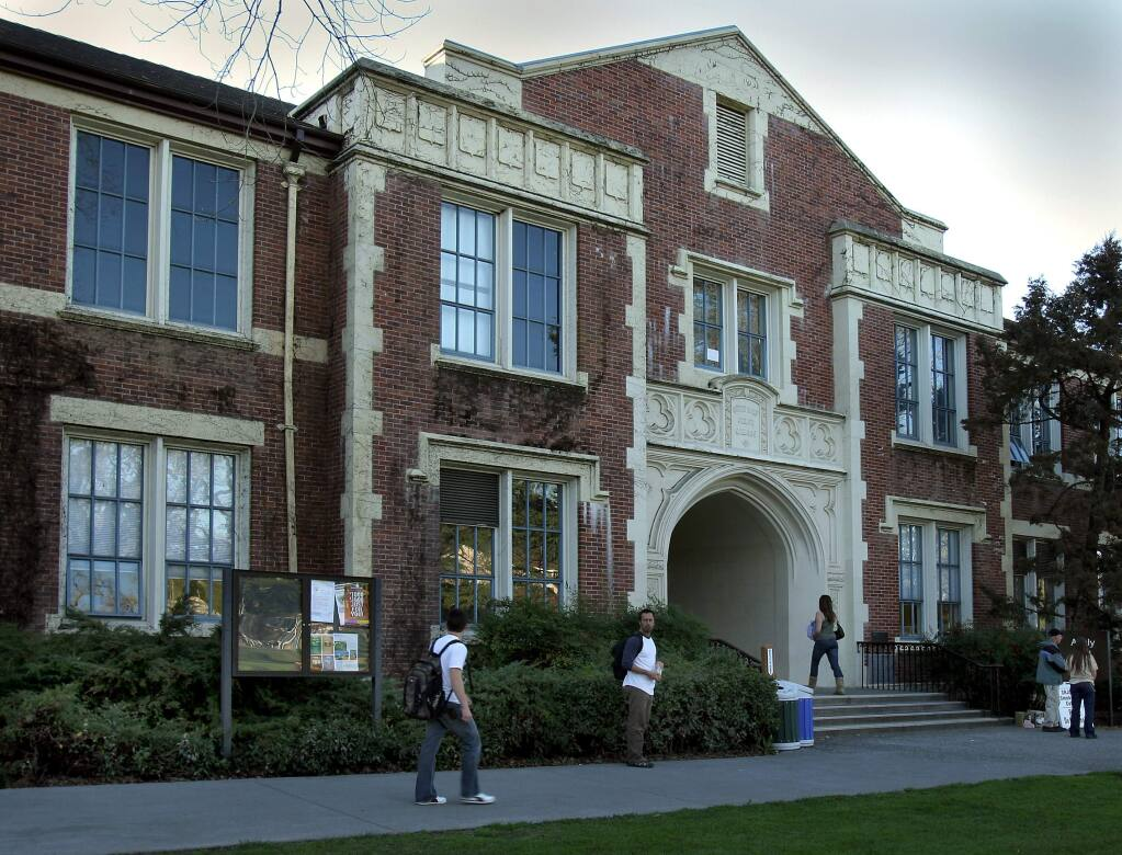 Analy Hall on Santa Rosa Junior College's main campus (PD FILE)