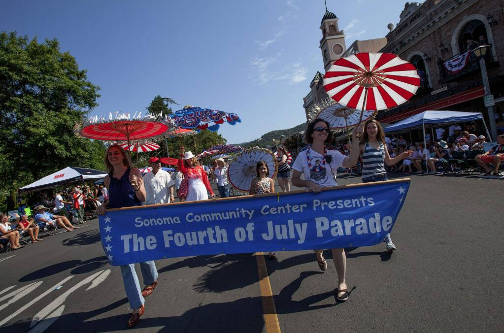 Did you know that the Sonoma Community Center, not the City, puts on the Fourth of July parade?