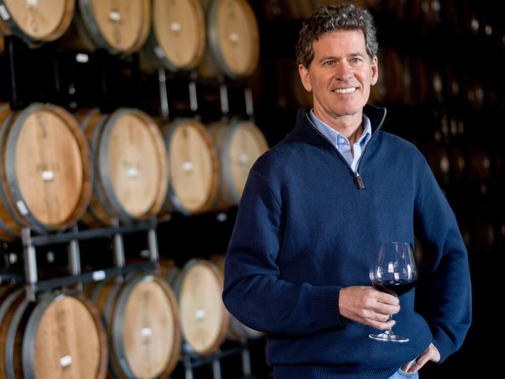 Winemaker Paul Hobbs poses for a portrait in the barrel room of the Paul Hobbs Winery in Sebastopol in 2013. (ALVIN JORNADA/ PD FILE)