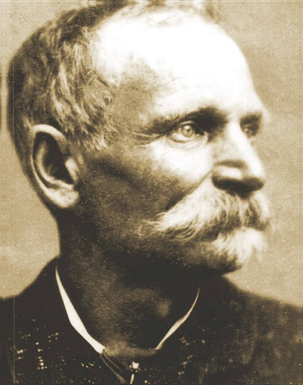 Charles E. Boles, 'Black Bart,' from the cover of the book, 'Black Bart: Boulevardier Bandit: The Saga of California's Most Mysterious Stagecoach Robber and the Men Who Sought to Capture Him.'