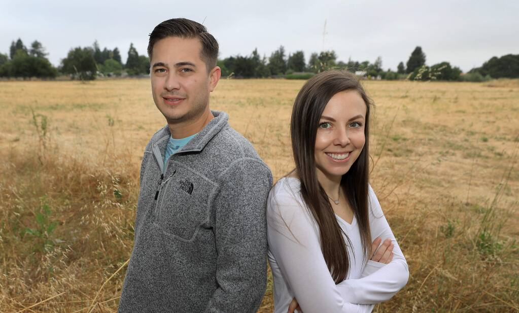 Curtis Wall and Alexa Wall were granted a permit to start growing cannabis legally on their property in Penngrove, Alexa wall is the board chair for the Sonoma County Growers Alliance. (Kent Porter / The Press Democrat) 2019