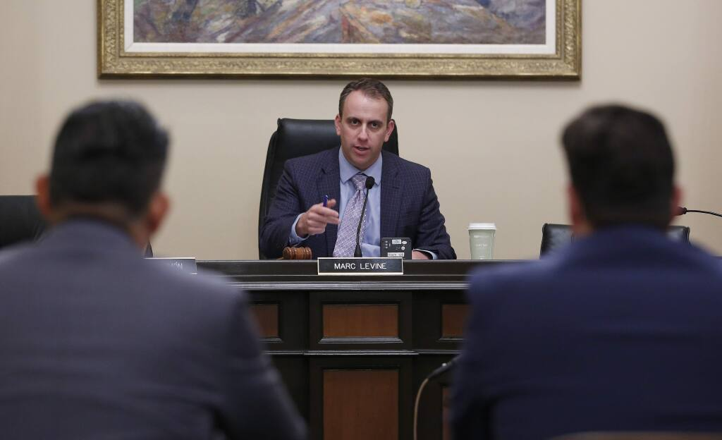 Assemblyman Marc Levine, D-Greenbrae, is running for a fourth term and has three challengers in the March 3 primary. (RICH PEDRONCELLI / Associated Press)