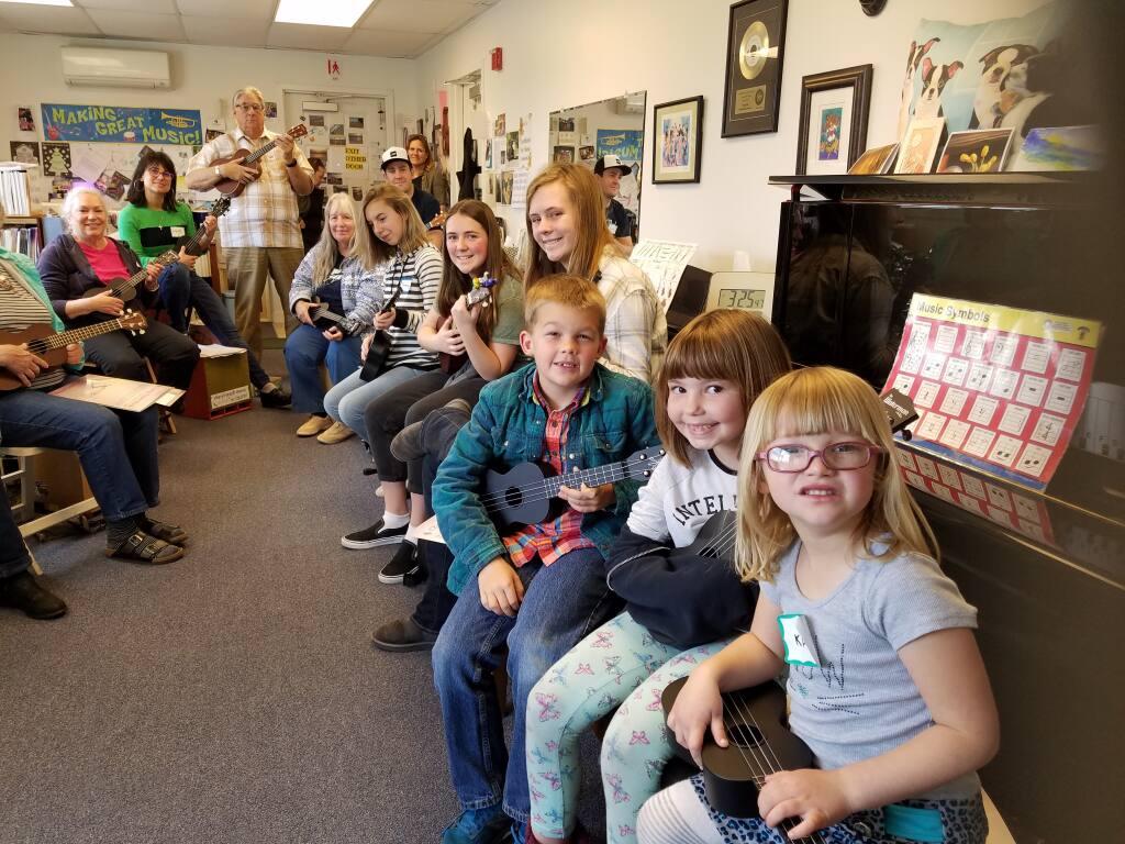 Cheryl Teach Music puts on a ukelele class before the pandemic hit. (Cheryl Franklin photo)