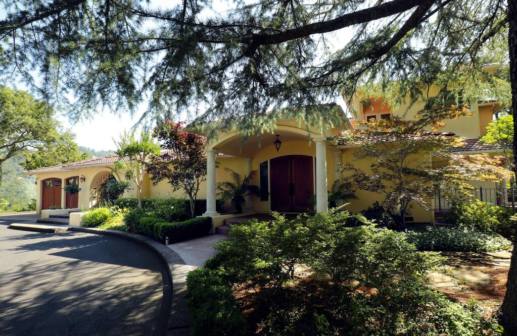 A home located in the hills of northeast Santa Rosa selling for $2,990,000. (John Burgess/The Press Democrat)