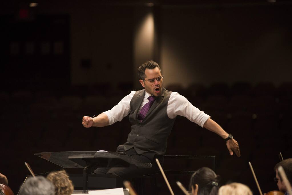 Music director finalist Andrew Grams will lead the Santa Rosa Symphony Saturday through Dec. 4 at the Green Music Center Weill Hall in Rohnert Park.