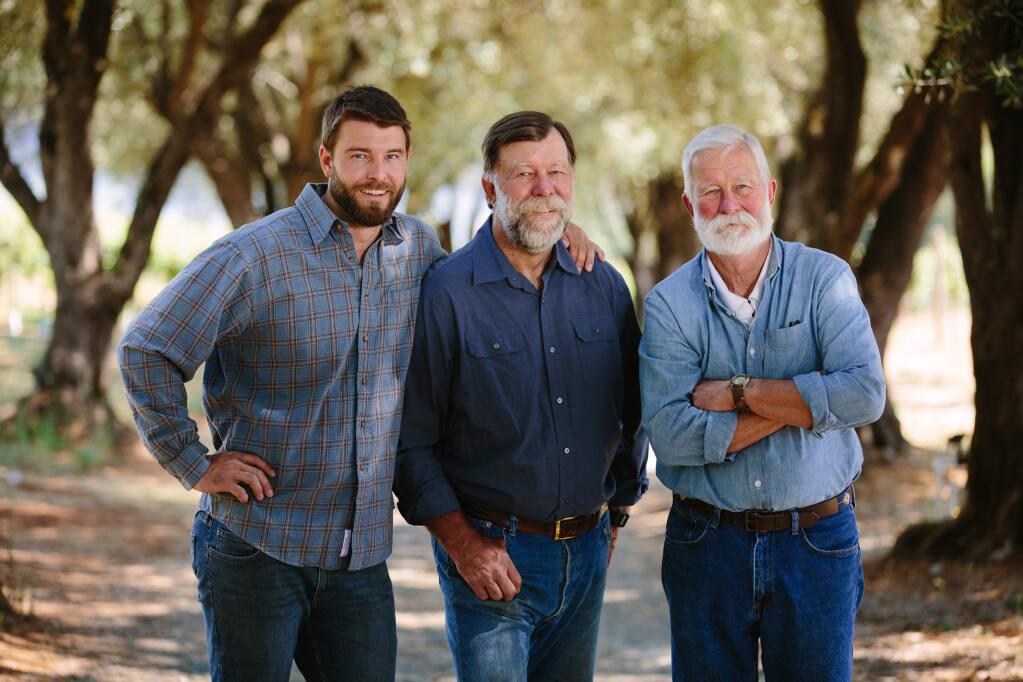 The trio behind Napa Valley's Smith-Madrone: (Left to Right) Sam Smith, Stuart Smith and Charlie Smith. They crafted The Press Democrat's wine of the week winner -- the Smith-Madrone, 2017 Spring Mountain District, Napa Valley Riesling. (Smith-Madrone)
