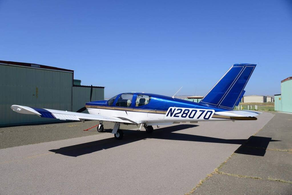 The Socata TB-20 Trinidad plane that went missing en route from Truckee to Petaluma on Monday, April 17, 2017. (COURTESY OF CIVIL AIR PATROL)