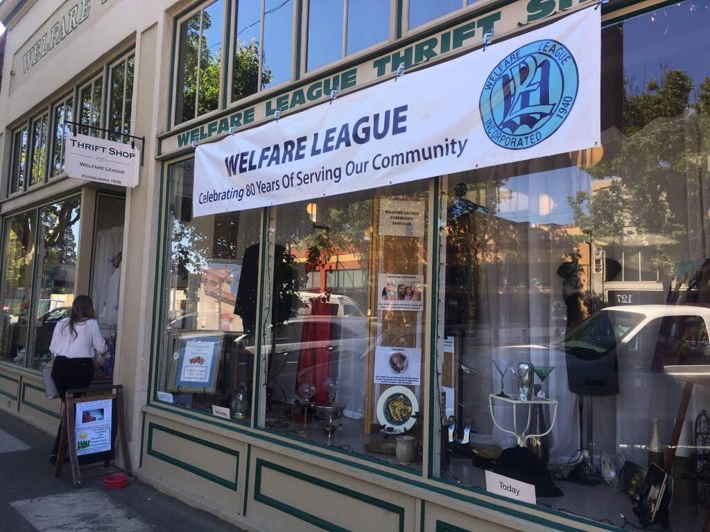 The Welfare League's thrift shop in Santa Rosa's Railroad Square. (Chris Smith / The Press Democrat)