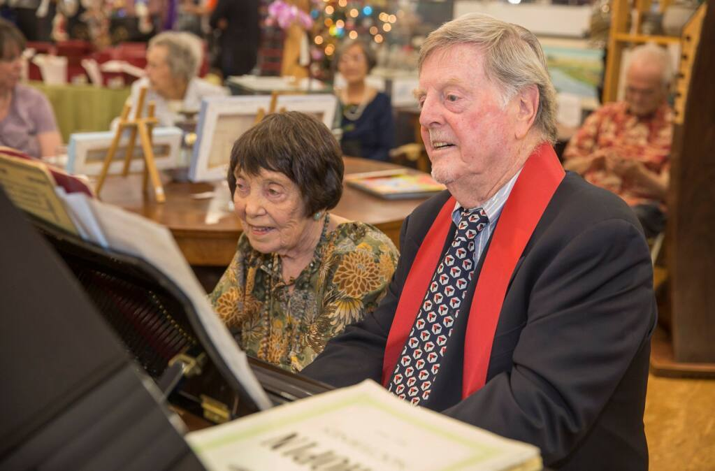 Norma and Corrick Brown, in a photo shared with guests of last year's Virtual Gala held by the Santa Rosa Symphony.