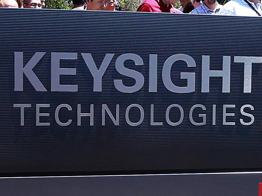 The sign for Keysight Technologies at its new location at Fountaingrove Parkway campus in Santa Rosa. (Press Democrat file, Aug. 14, 2014)