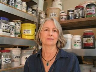 Sheila Jenkins, owner of Pure & Simple Pottery Products, an online-only retail and wholesale business in Willits. (Photo courtesy Sheila Jenkins)