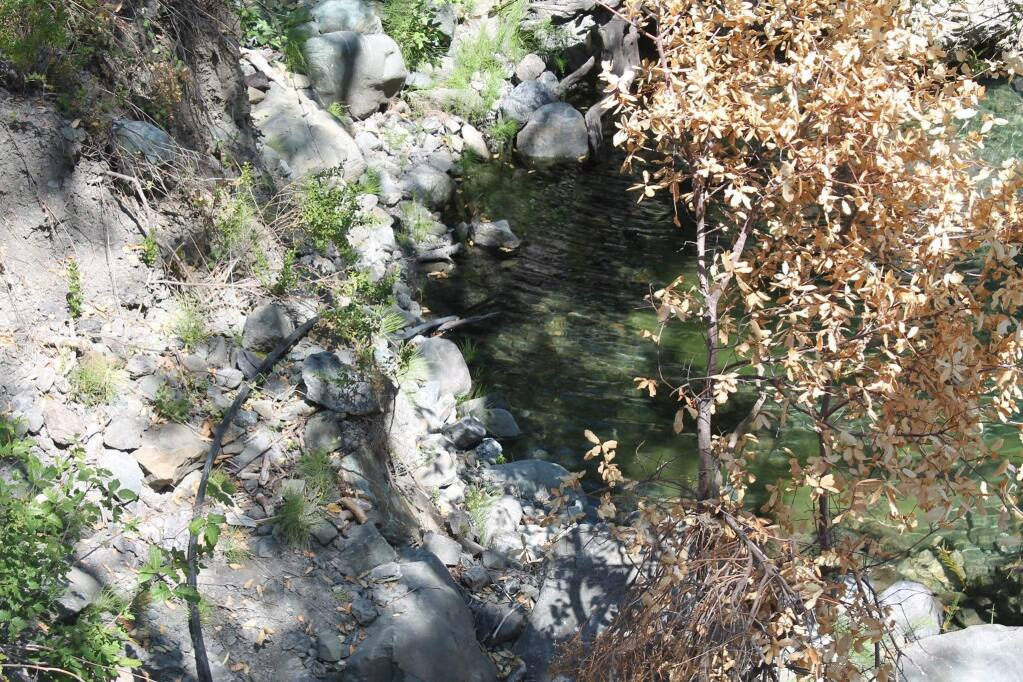 A four-day operation earlier this month in Mendocino County found illegal water diversions of nearby creeks and streams to irrigate illegal cannabis crops, as well as illegally dumped trash, fuel and pesticides. (MENDOCINO COUNTY SHERIFF'S OFFICE)