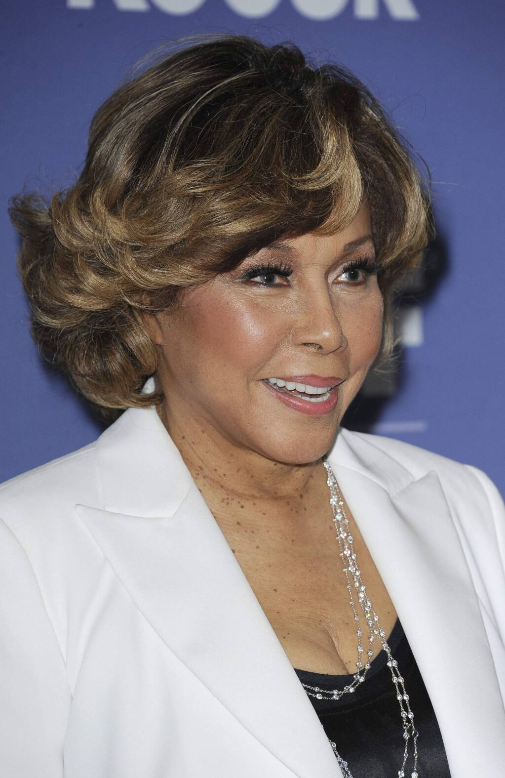 FILE - This June 12, 2013 file photo shows Diahann Carroll at Women in Film's 2013 Crystal + Lucy Awards in Beverly Hills, Calif. Carroll died, Friday, Oct. 4, 2019, at her home in Los Angeles after a long bout with cancer. She was 84. (Photo by Katy Winn/Invision/AP, File)