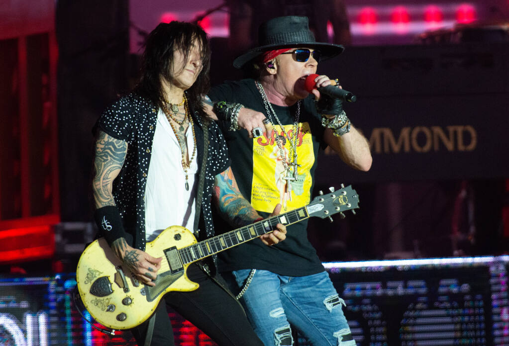 Guns N' Roses performs during BottleRock Napa Valley in Napa, Calif., on Saturday, Sept. 4, 2021. (Alvin A.H. Jornada for The Press Democrat)