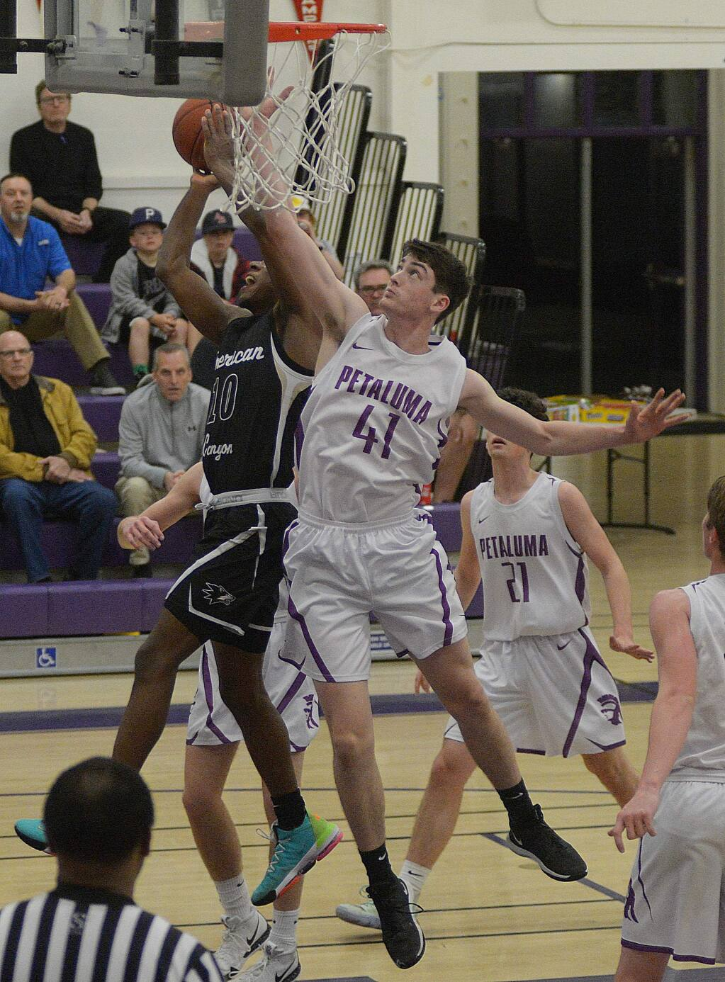 SUMNER FOWLER/FOR THE ARGUS-COURIERJulian Garrahan was not only a strong defender, but also the first option in Petaluma's offense.