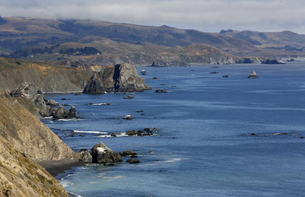 The view of the coast looking south near Ft. Ross on Sunday, June 28, 2015 in Ft. Ross, California . (BETH SCHLANKER/ The Press Democrat)