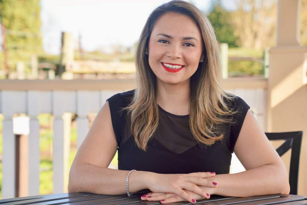 Maria Alondra Jasso, 32, toddler Montessori lead teacher for Educare Children's Center in Corte Madera, is one of North Bay Business Journal's Forty Under 40 notable young professionals for 2019. (photo by Pocho Sanchez)