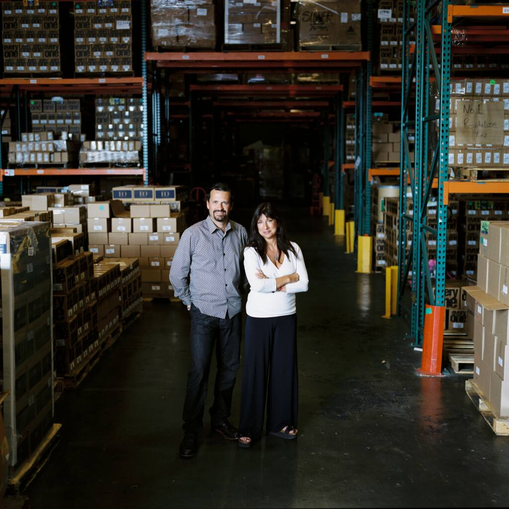 After being married then divorcing, Susan Griffin-Black and Brad Black still care for each other and run a San Rafael-based company together as co-CEOs. (courtesy of EO Products)