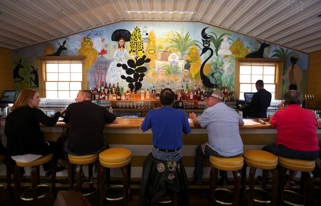 The bar area of Sam's Social Club at Indian Springs Resort in Calistoga on Thursday, March 12, 2015. (CHRISTOPHER CHUNG/ PD)