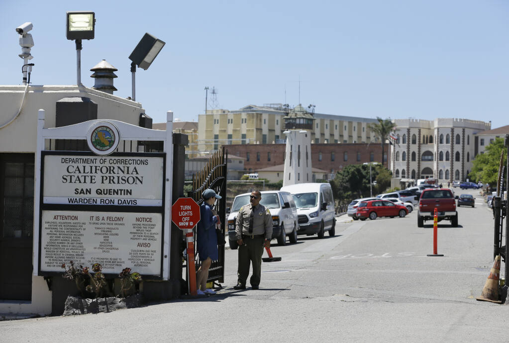 One in four inmates and almost 90 staff members at San Quentin State Prison have tested positive for the coronavirus over the past month. (ERIC RISBERG / Associated Press, 2019)