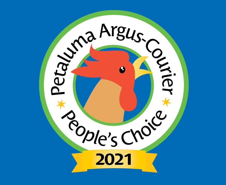 Logo for the 2021 Petaluma People's Choice Awards.