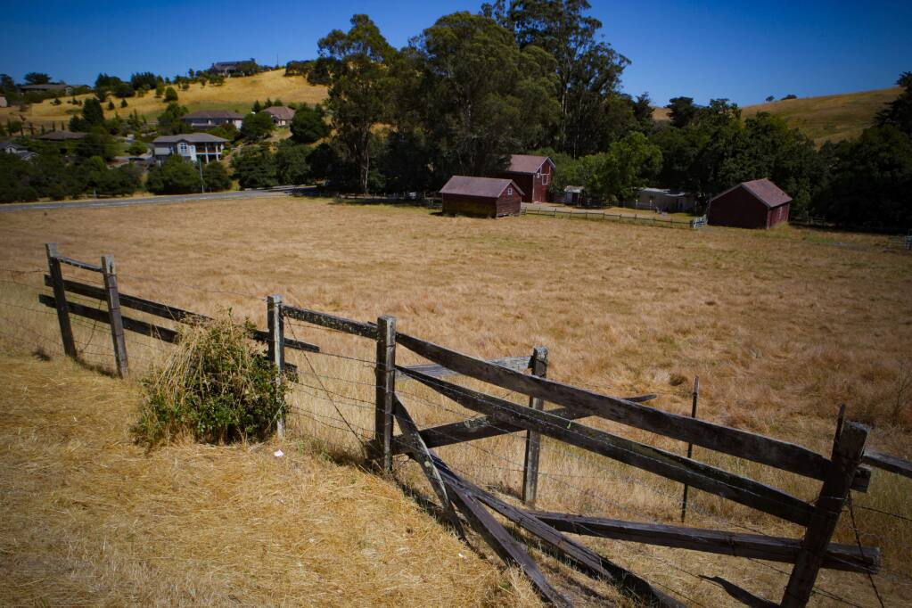 Scott Ranch on the western edge of Petaluma. An environmental group and a developer struck a deal to preserve the ranch. (CRISSY PASCUAL / Petaluma Arugs-Courier)