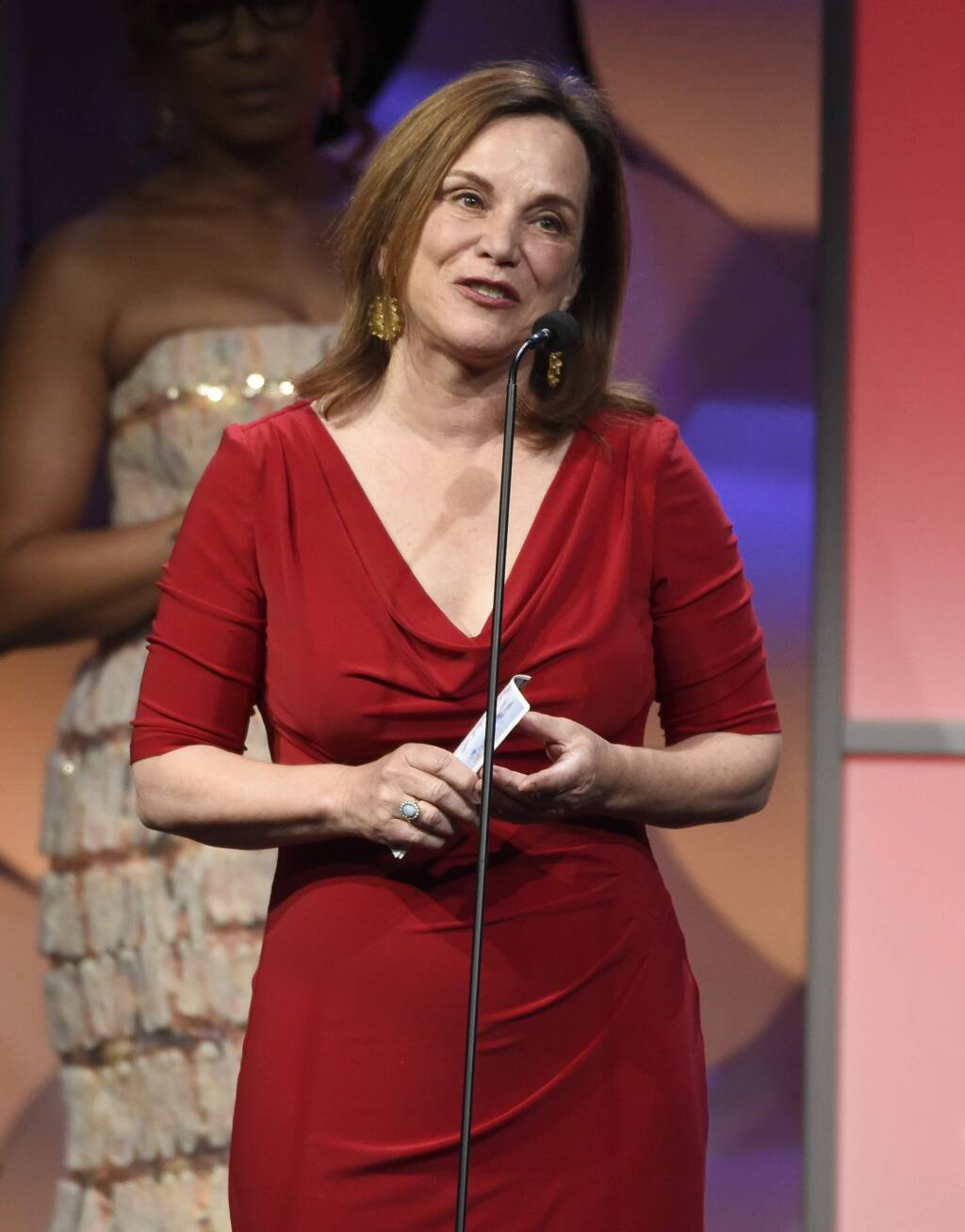 FILE - In this May 19, 2015, file photo, Renee Montagne accepts the award for outstanding individual achievement, news magazine, for NPR's 'Morning Edition' at the 40th Anniversary Gracies Awards at the Beverly Hilton Hotel o in Beverly Hills, Calif. NPR announced July 18, 2016, that Montagne would be stepping down as anchor of the program following the upcoming presidential election. (Photo by Chris Pizzello/Invision/AP, File)