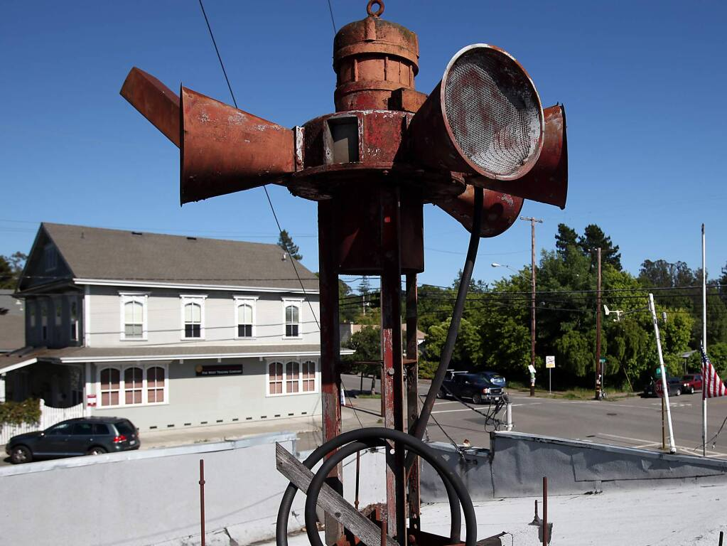 The siren on top of the Graton fire station, in downtown Graton, alerts the volunteer firefighters of emergency calls.
