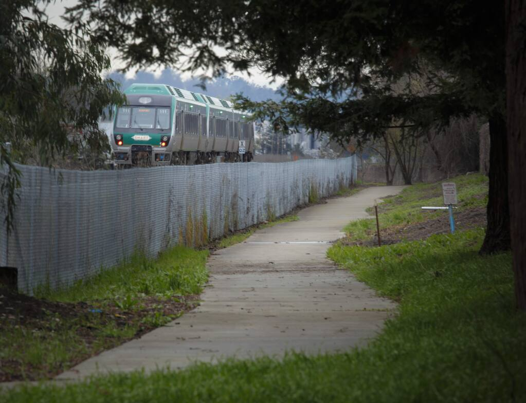 The SMART train received funding to continue building a bike trail along McDowell to Penngrove. (CRISSY PASCUAL/ARGUS-COURIER STAFF)