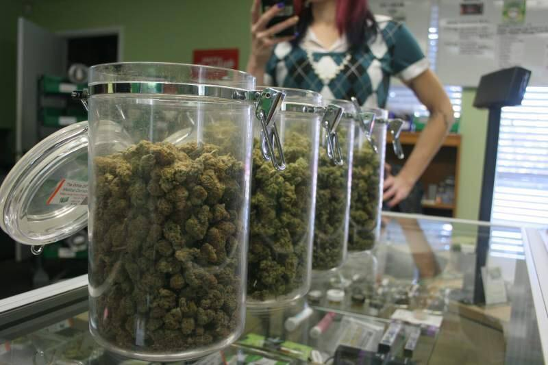 A legal dispensary in Santa Rosa with a selection of medical cannabis. (Christian Kallen/Index-Tribune)