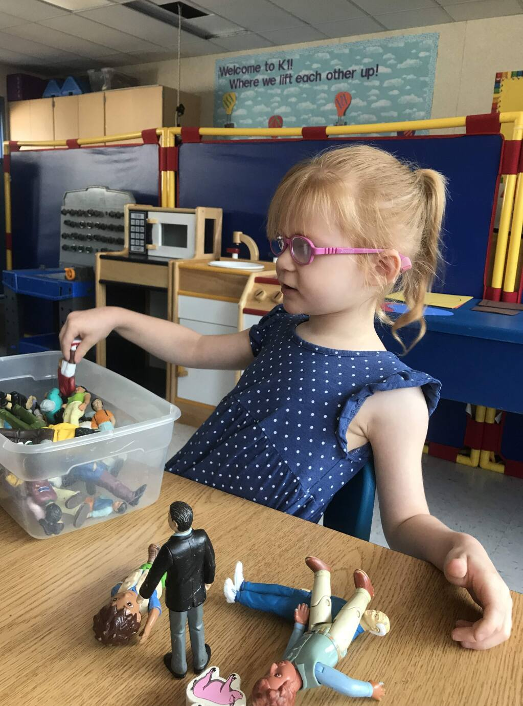 Brooke Adams during her first day of kindergarten at Village Elementary School in Santa Rosa on Monday, Aug. 13, 2018. (COURTESY OF JANA ADAMS)