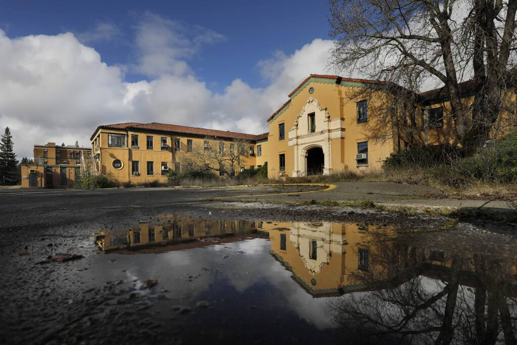 The old Sutter Hospital building off Chanate Road now stands empty and shuttered. Photo taken in Santa Rosa, California on Thursday, Feb. 14, 2019. (BETH SCHLANKER/ PD)