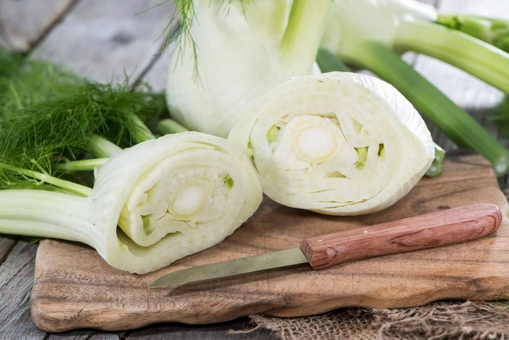 When buying fresh fennel, choose clean, crisp bulbs with no signs of browning. Attached greenery should be feathery. (Shutterstock)