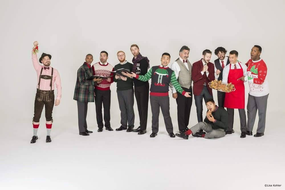 A Chanticleer Christmas: The acclaimed ensemble returns to St. Vincent Church Dec. 24. (Press Democrat file photo)