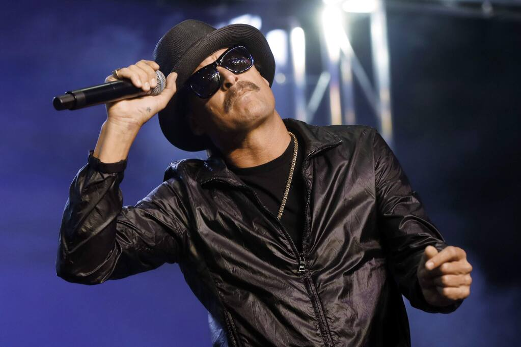 "FILE - In this Wednesday, Oct. 17, 2018 file photo, Kid Rock performs in Pontiac, Mich. The owners of the Detroit sports arena housing Kid Rock's restaurant say the musician recently filmed delivering a vulgarity-laced rant against Oprah Winfrey won't renew his licensing agreement for the eatery. An Ilitch Holdings official said Wednesday, Dec. 4, 2019, Kid Rock ""voluntarily decided"" not to renew the deal coming up in April inside Little Caesars Arena (AP Photo/Paul Sancya File)"