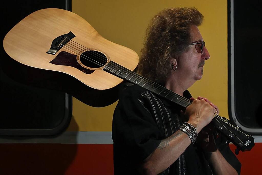 Sonoma County musician Buzzy Martin wrote 'Don't shoot! I'm the guitar man', Wednesday July 21, 2010. (Kent Porter / Press Democrat) 2010