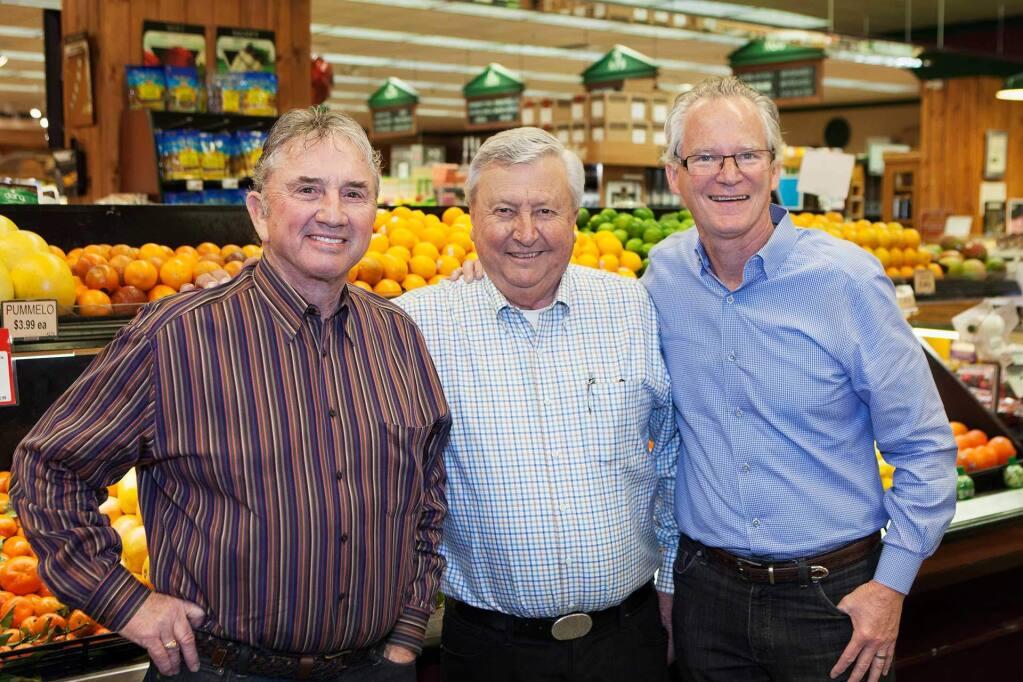 Dale Downing, Don Shone and Eric Stille at Sonoma Market, (Robbi Pengelly/Sonoma-Index-Tribune)