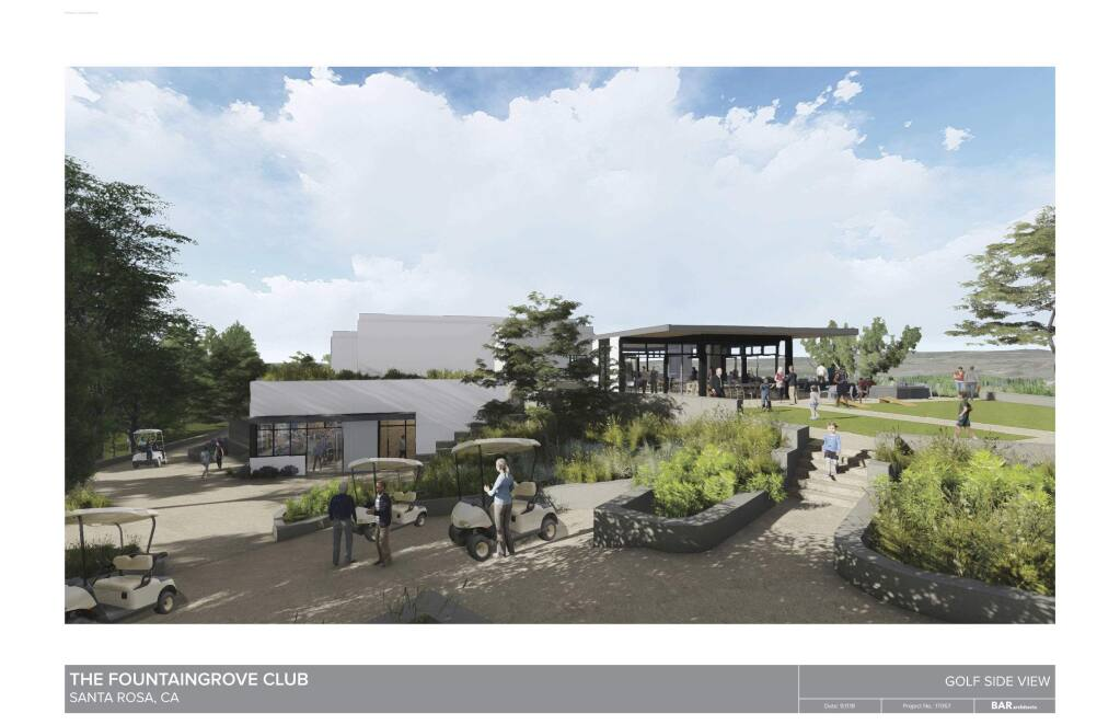 Architectural rendering of planned rebuild of the Fountaingrove Golf and Country Club's clubhouse (PROVIDED IMAGE) 2018