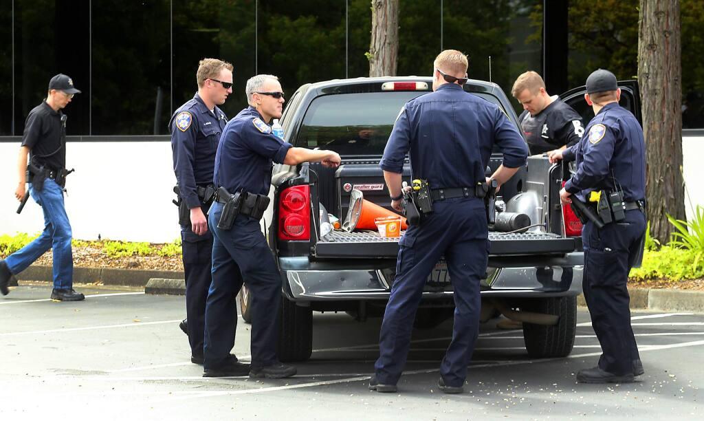 Santa Rosa Police coordinated raids on cannabis oil labs on Wednesday, June 15, 2016. (JOHN BURGESS/ PD)