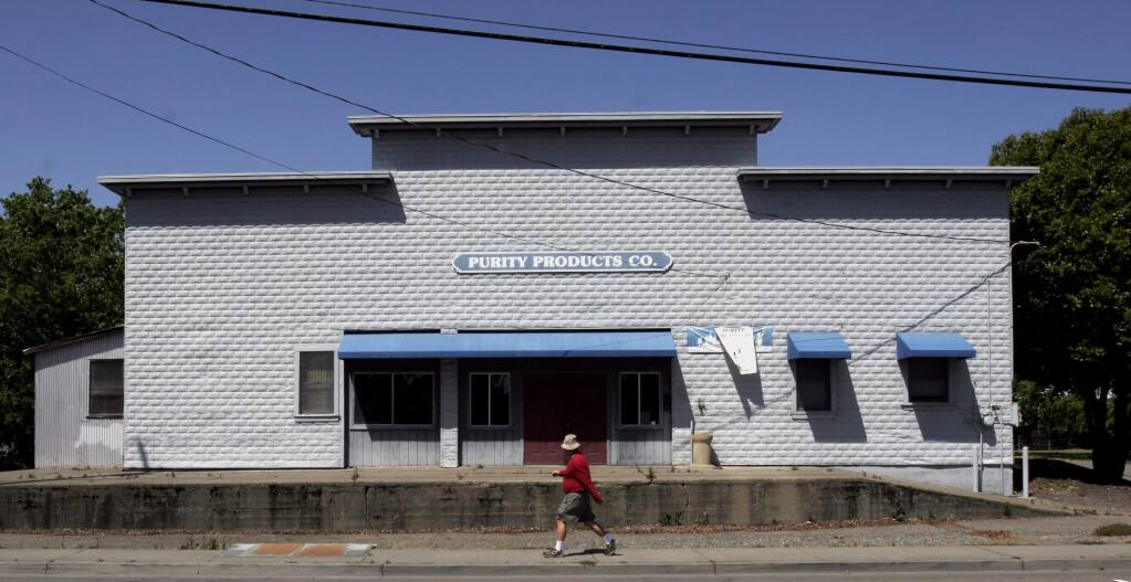 The Cerri property, a 1920s-era warehouse in Healdsburg, was last used by Purity Products. (Press Democrat file, 2009)