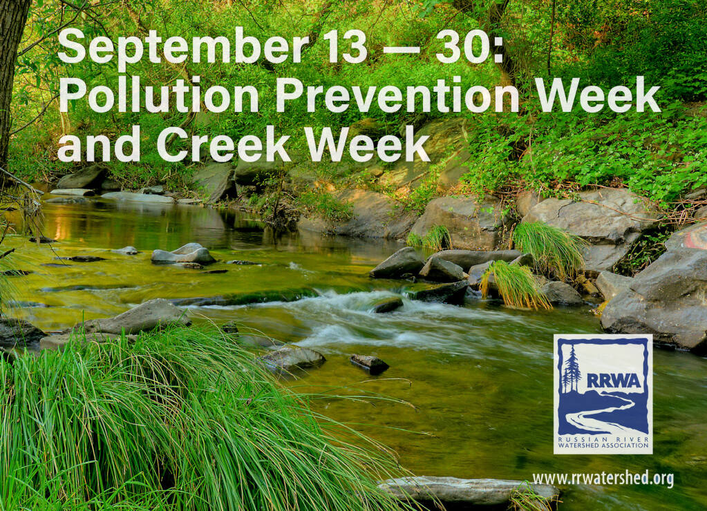 Each September cleanup events are organized to bring volunteers together to clean up trash and debris from beaches, rivers, and creeks. These events will not take place due to the restrictions around COVID-19, but there are still many ways to participate and make a difference in your community. ( Cover photo - Urban Creek Guide Brochure -RRWA)