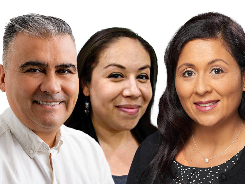 Salvado Cruz of Fru-ta All Natural Ice Cream, Alma Magalon of Redwood Credit Union and Veronica Rincon of Exchange Bank are among the winners of North Bay Business Journal's 2020 Latino Business Leadership Awards. Click through this gallery to see more winners. (composite image from Brian Samuel Donald and courtesy photos)